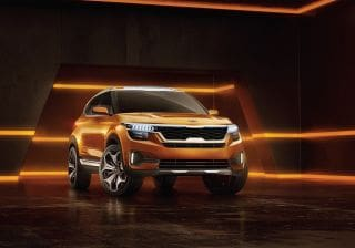 Kia SP Concept SUV Has A Merc-Like Large LCD Infotainment System