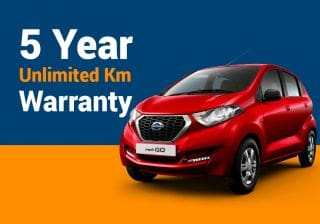 Datsun redi-GO's 5 Years, Unlimited Km Warranty Makes It A Reliable Choice