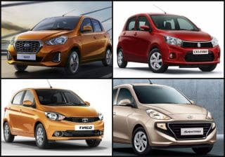 Spec Comparison: 2018 Hyundai Santro vs Datsun GO facelift vs Celerio vs Tiago vs WagonR