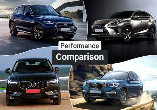 Lexus NX 300h Hybrid Vs BMW X3, Audi Q5, Volvo XC60 Diesel: Real-world Performance Comparison