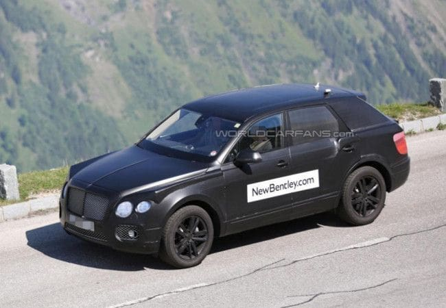 Upcoming Bentley's crossover SUV spied
