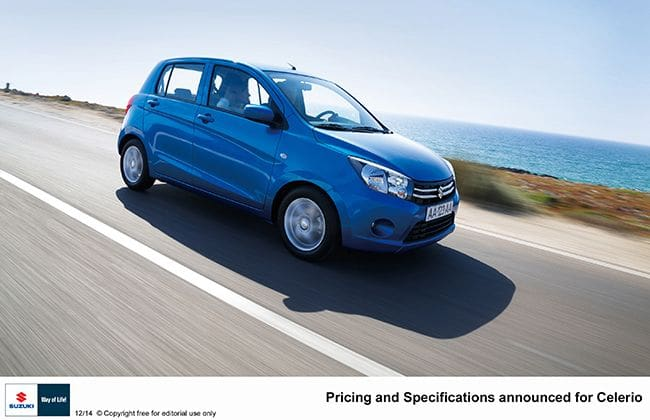 Suzuki Celerio UK pricing announced, AMT will be offered from Summer!