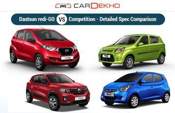 Datsun redi-GO Vs Alto, Kwid And Eon - Spec Comparison