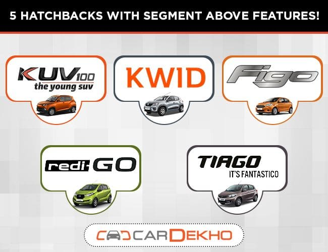 5 Affordable Hatchbacks With Segment-Above Features