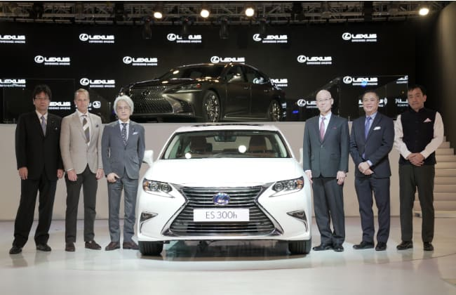 Launched: Lexus RX 450h, ES 300h and LX 450d