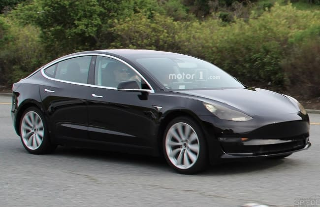 Production-Spec India-Bound Tesla Model 3 Spied Completely Undisguised