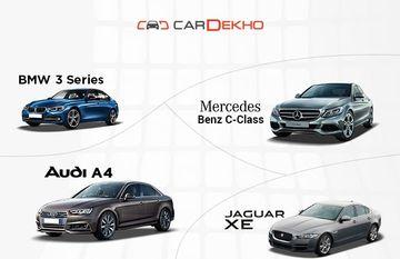 बीएमडब्ल्यू 3-सीरीज का मुकाबला मर्सिडीज़ सी-क्लास, ऑडी ए4 और जगुआर एक्सई से