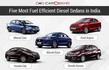 Five Most Fuel Efficient Diesel Sedans in India
