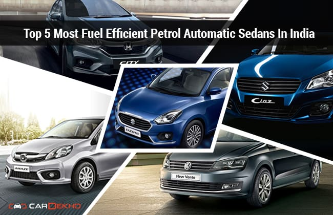 Top 5 Most Fuel Efficient Petrol Automatic Sedans In India