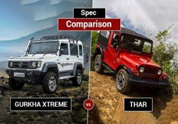 Force Gurka Xtreme vs Mahindra Thar CRDe: Spec Comparison