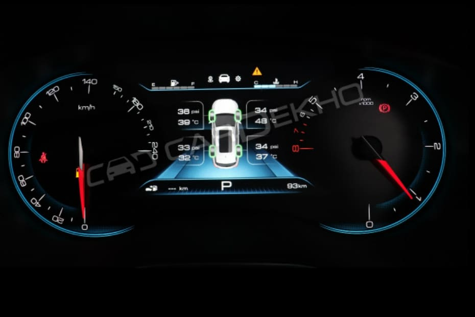 Exclusive: MG Hector SUV's Digital Instrument Cluster Revealed; Features TPMS