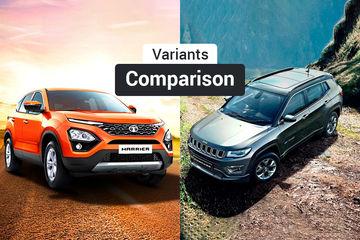 Tata Harrier Vs Jeep Compass: Variants Comparison
