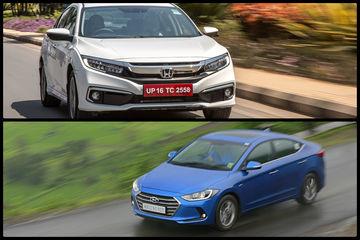 Honda Civic 2019 vs Hyundai Elantra: In Pics