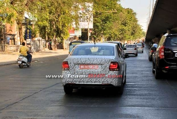 Updated Volkswagen Vento, Polo Spied Testing In India