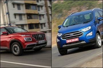 Hyundai Venue vs Ford EcoSport: Petrol-Automatic Performance & Mileage Compared