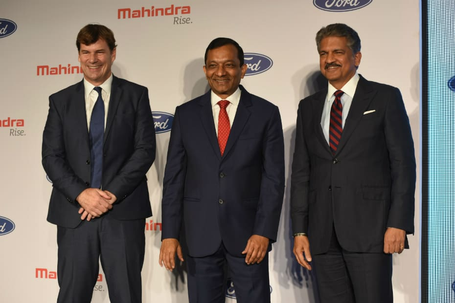 Mahindra & Ford Sign Joint Venture To Share New Models