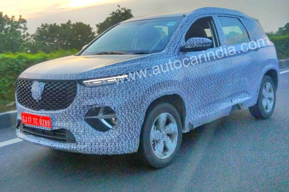 Six-Seater MG Hector Spotted Testing In India With Updated Styling