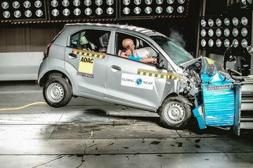 உலகளாவிய NCAP கிராஷ் சோதனையில் ஹூண்டாய் சாண்ட்ரோ இரண்டு நட்சத்திர மதிப்பீட்டைப் பெறுகிறது