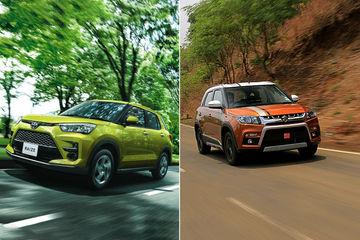 मारुति विटारा ब्रेज़ा Vs टोयोटा राइज़: जानिए एक-दूसरे से कितनी अलग हैं ये दोनों कारें