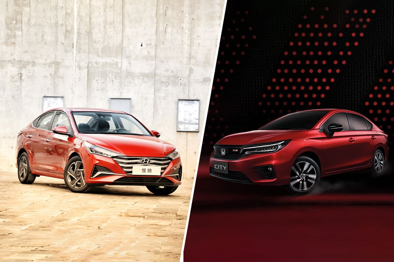 2020 Honda City vs Hyundai Verna Facelift - Side By Side