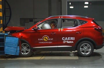 MG ZS EV Scores 5 Stars In Euro NCAP Crash Test