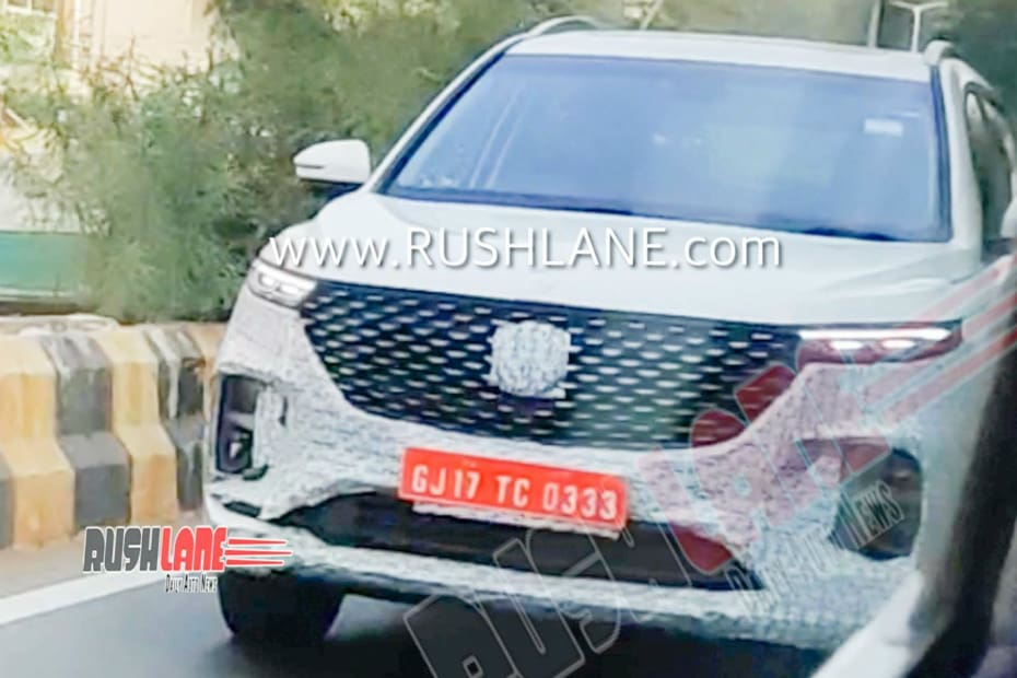 MG's Six-Seater Hector Spotted Again