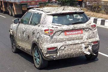 पहली बार टेस्टिंग के दौरान नज़र आईमहिंद्रा एक्सयूवी300 इलेक्ट्रिक