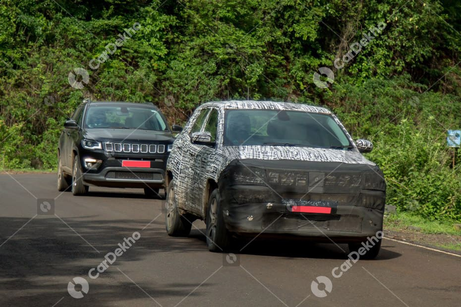 Jeep Compass Facelift Spied In India For The First Time