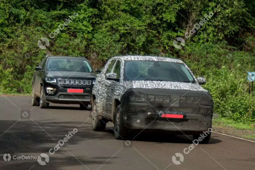 Here's Your First Glimpse Of Jeep Compass Facelift's Interior