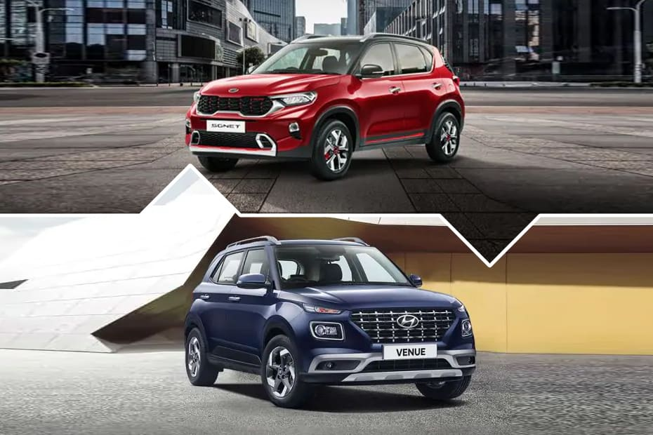These Pictures Show The Clearest Look At The Differences Between The Kia Sonet And Hyundai Venue