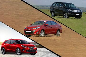 अक्टूबर में टोयोटा ग्लैंजा, यारिस और इनोवा क्रिस्टा गाड़ी पर करें 65,000 रुपये तक की बचत