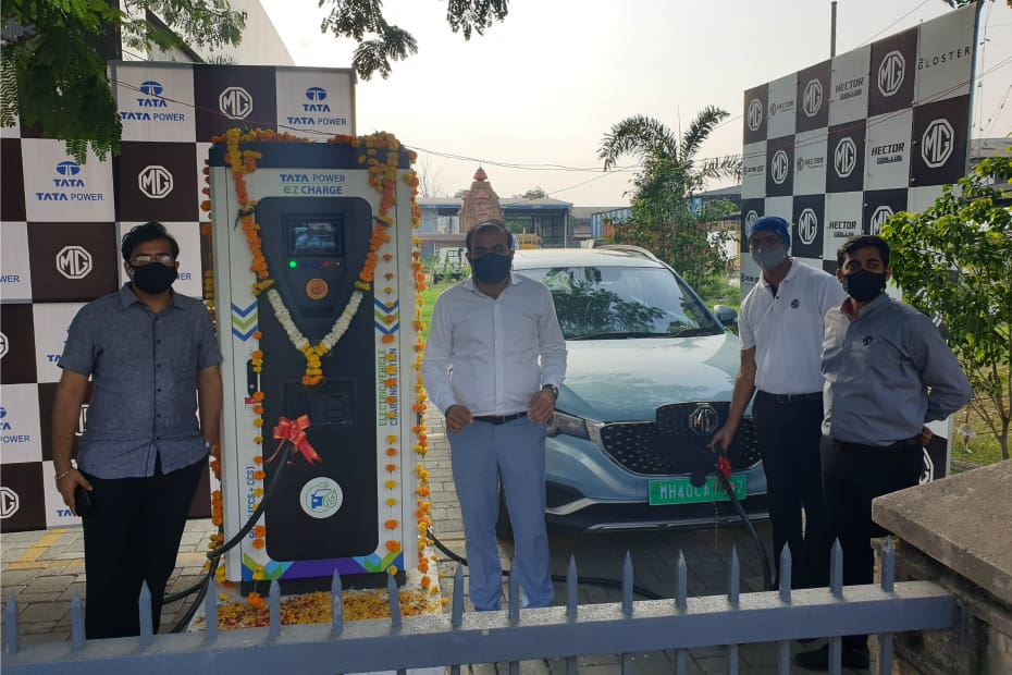 First Superfast EV Charging Station Set Up In Nagpur As Part Of MG Motor-Tata Power Partnership
