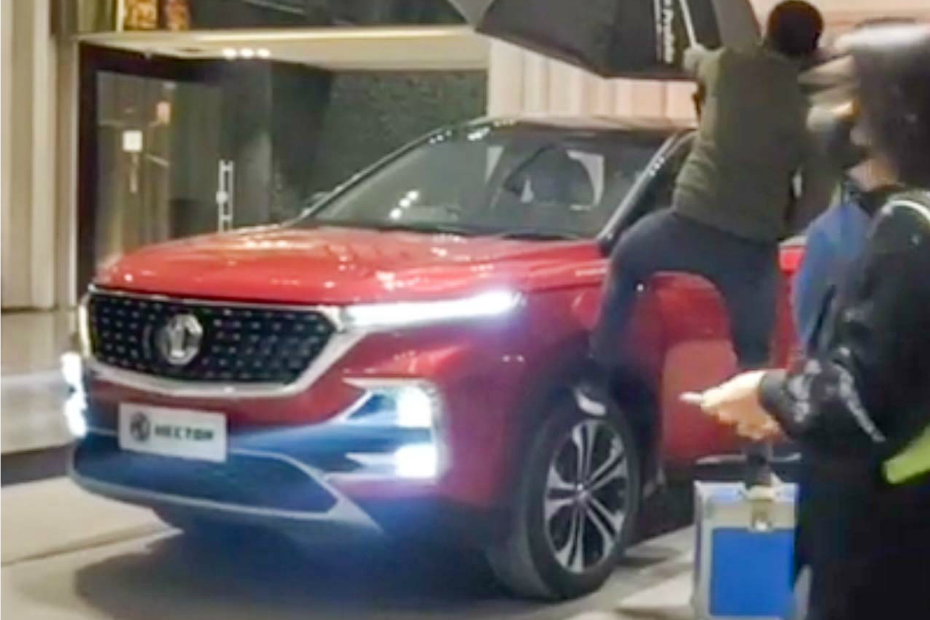 MG Hector Facelift Spotted Without Any Camouflage. Coming Soon?