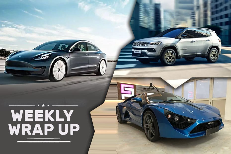 Car News That Mattered This Week: Tesla India Launch Confirmed, 2021 Compass Spied, DC Avanti Scam And More