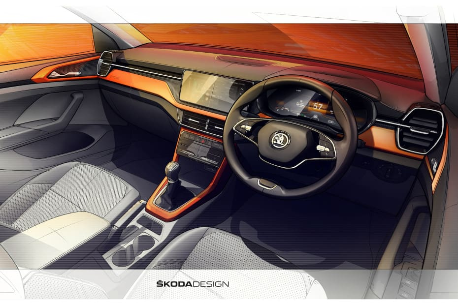 Take A Sneak Peek At The Skoda Kushaq Interior In Official Sketches