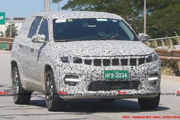 ब्राजील में फिर टेस्टिंग के दौरान दिखी जीप की 7 सीटर एसयूवी कार, भारत में 2022 में होगी लॉन्च