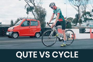 क्या हुआ जब एक साइकिल और बजाज क्यूट में लगी रेस,वीडियो मेंं देखें रिजल्ट