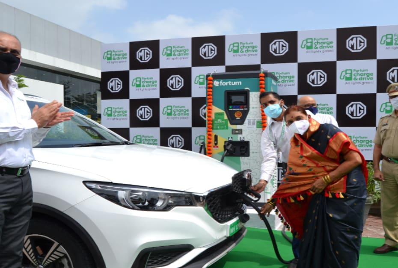 एमजी मोटर्स ने पुणे में स्थापित किया 50 केडब्ल्यू का चार्जिंग स्टेशन