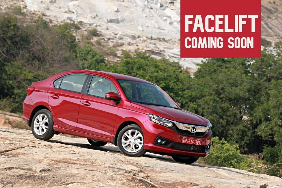 Facelifted Honda Amaze Coming This August