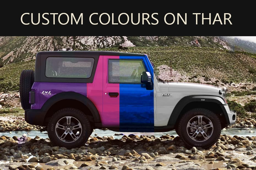 Mahindra Thar In Custom Colours - Which One Do You Like?