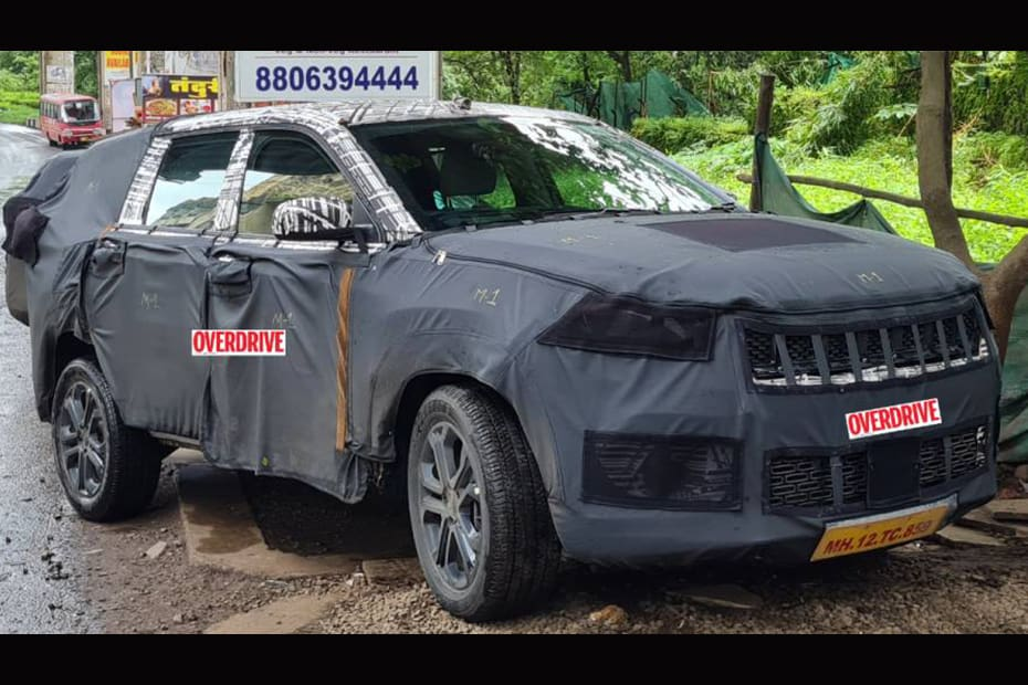 Jeep 7-seater SUV Spied Again, Taillights Clearly Visible