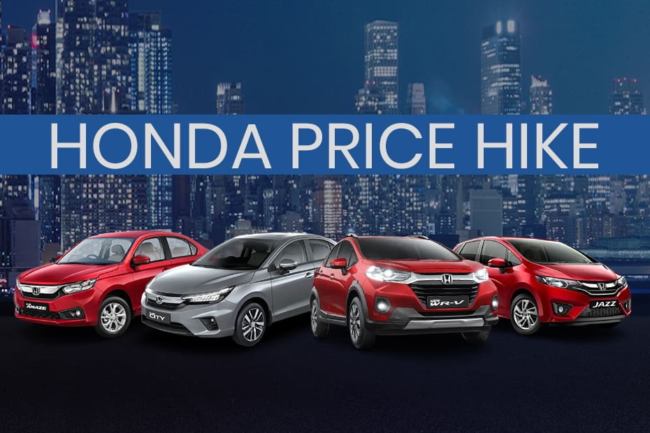 Honda Cars Get Costlier By Up To Rs 1.12 Lakh
