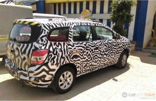 Chevrolet Spin Spied Testing Cardekho