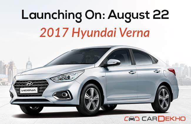 2017 Hyundai Verna To Launch On August 22