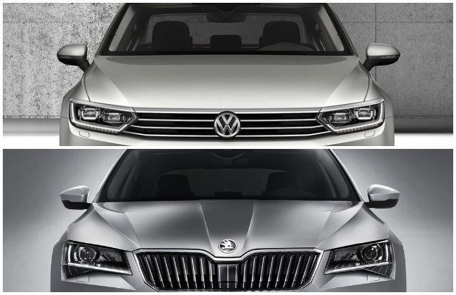 Volkswagen Passat Vs Skoda Superb Variant Wise Specs Comparison Cardekho Com