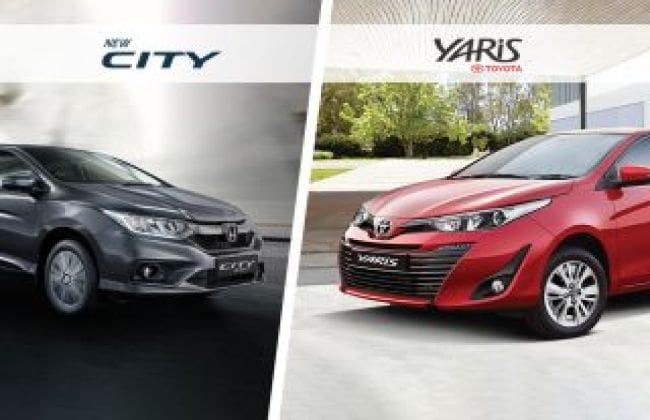 Toyota Yaris Vs Honda City – Spec Comparison | CarDekho com