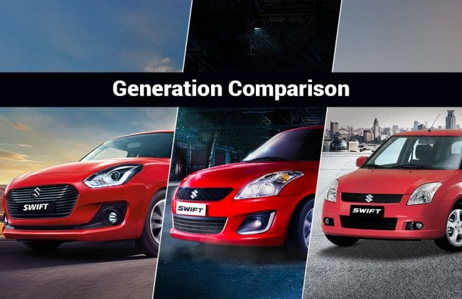 Maruti Suzuki Swift Generation-wise Comparison: Tracing The