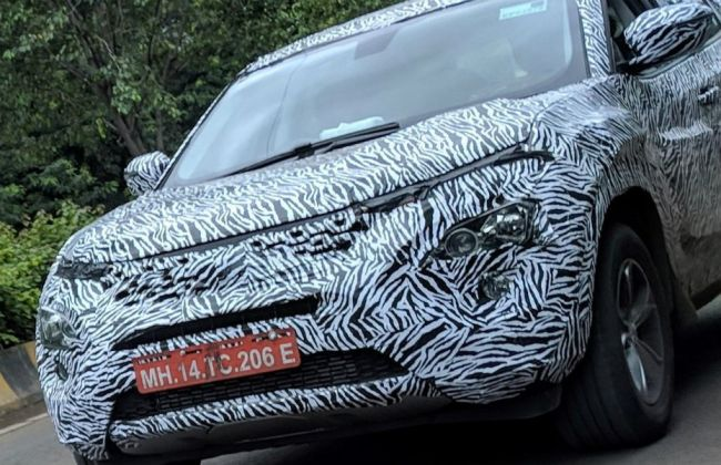 Tata Harrier Spied With Production Headlamps, Tail Lights For The First Time