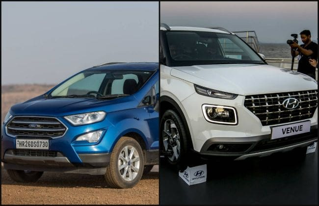 Ford Ecosport Test >> Hyundai Venue vs Ford EcoSport: In Pics | CarDekho.com
