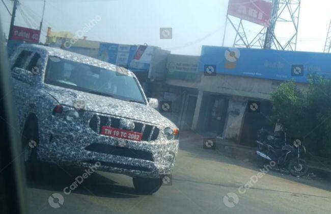 Mahindra's New Scorpio Spied Again, Looks Bigger Than Before